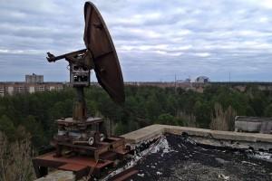 Auf dem Dach eines Bürogebäudes der Jupiter-Fabrik