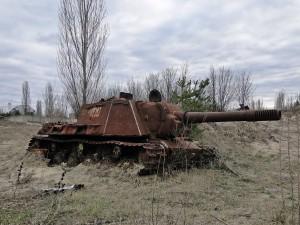 Ein Panzer aus dem zweiten Weltkrieg