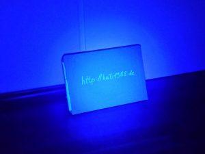 12-LED-Lampe aus 1m Entfernung