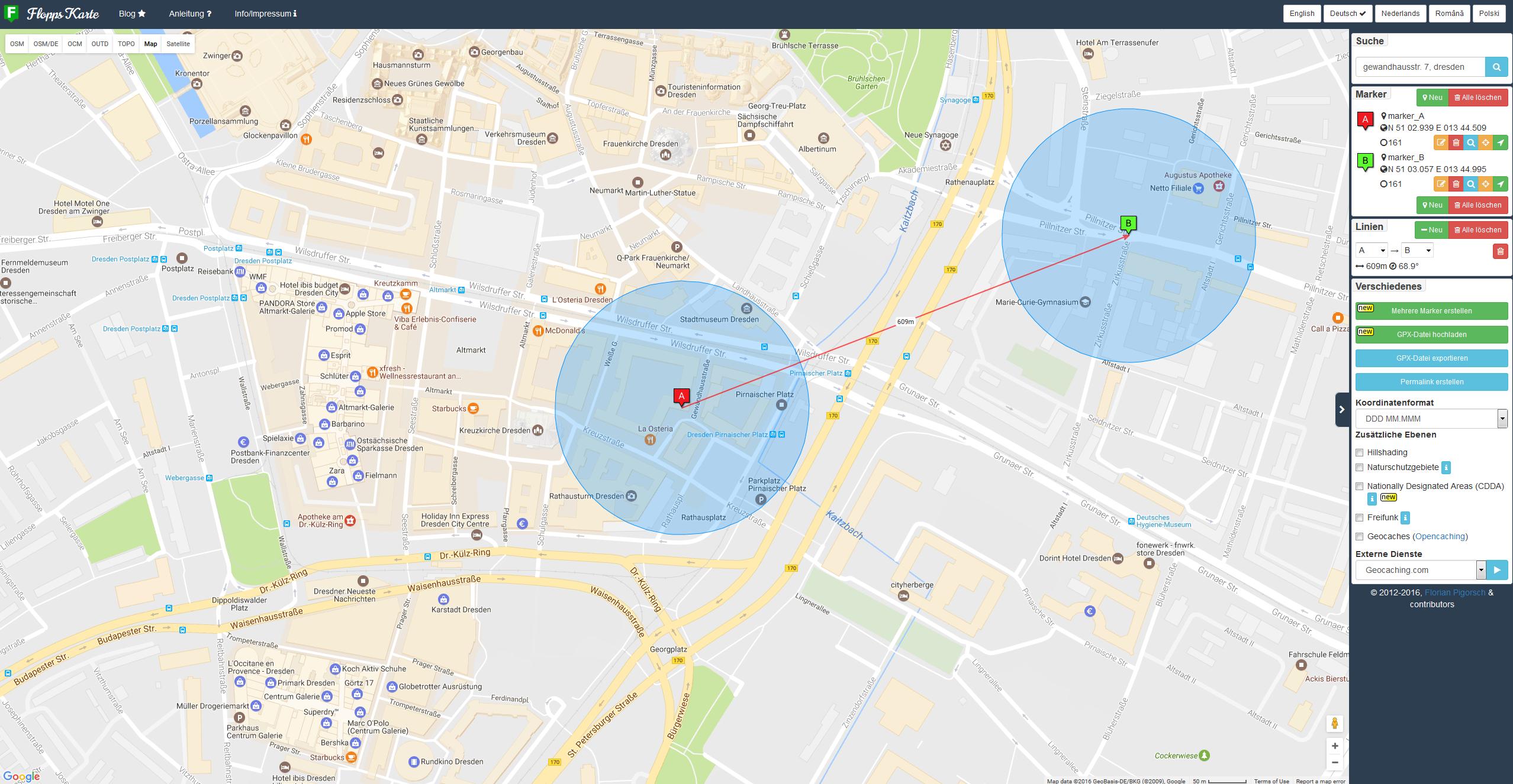 geocaching karte Flopps Tolle Karte – ein gutes Tool für Geocacher – Die Welt von